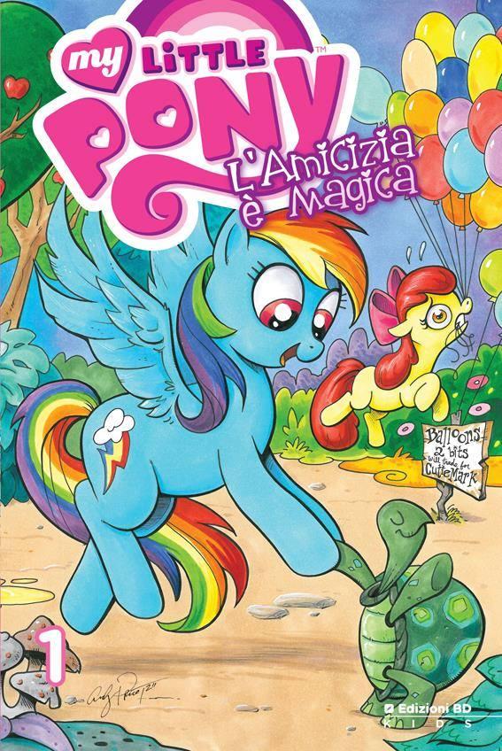 My Little Pony Edizioni BD #1 Cover Rainbow Dash